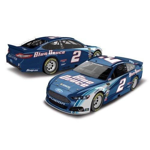 Brad Keselowski # 2 Blue Duece 2014 Ford Fusion Nascar Diecast Car, 1:64 Scale front-1065821