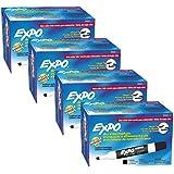 Expo Low Odor Chisel Tip Dry Erase Markers, Black, (80001) (4 Dozen)