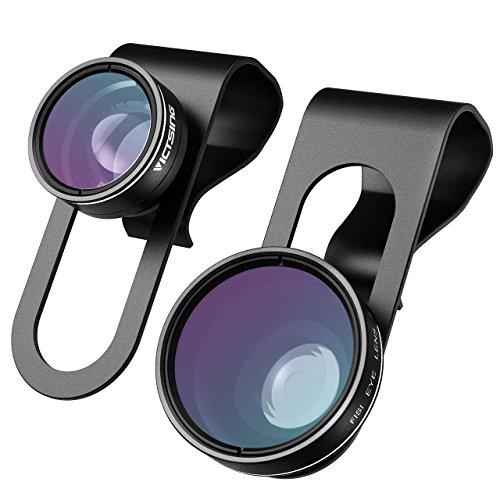 VicTsing 3-in-1 Clip on 180 Degree No Dark Corner Fisheye Plus 0.65X Wide Angle Plus 10X Macro Lens For iPhone 6 6 Plus, iPhone 5 5S 4 4S (Fisheye Lens Clip On Iphone 6 compare prices)