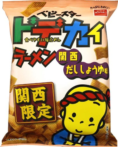 The Oyatsukanpani baby star de big ramen's a Kansai 73gX12 bags taste soy sauce (Baby Soy Sauce compare prices)