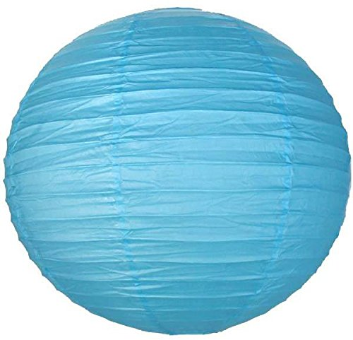 """Perfectmaze 12 Piece Round Chinese Paper Lantern For Wedding Party Engagement Decoration 10 Sizes / Colors+ (8"""" (Inch), Light Blue)"""