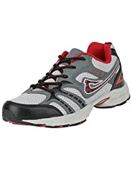 ADK Grey & Red Sports Shoes For Men