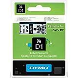 Dymo D-1 0.75 Inches x 23 Feet, Black On Clear, 1/Card (45800)