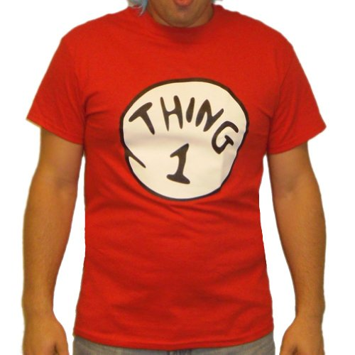 Thing 1 T-Shirt Costume Dr Seuss Cat In The Hat Mens