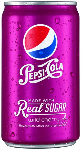 Pepsi Made With Real Sugar, Wild Cherry, 7.5 Fl Oz Mini Cans, 24 Pack front-696762