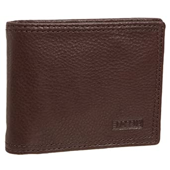 Fossil Mens Midway Traveler Leather Wallet ML7770, Brown