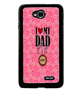 PrintDhaba Quote D-2289 Back Case Cover for LG L70 (Multi-Coloured)