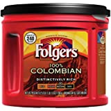 Folgers 100% Colombian Ground Coffee, Distinctively Rich, Medium Dark Roast, 27.8-Ounce Packages (Pack of 3)