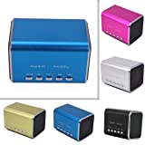 HDE Music Angel Portable Party Mini Speaker 150 Hz - 18000 Hz w/ Mini SD Card Slot (Blue)