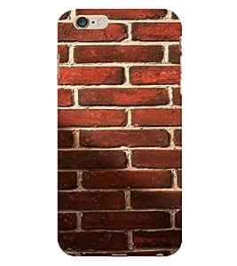 PrintVisa Red Brick Pattern 3D Hard Polycarbonate Designer Back Case Cover for Apple iPhone 6S Plus