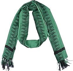 Knool Women's Dupatta (Green and Black)