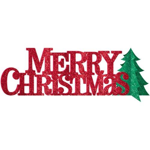 centerpiece glitter merry christmas