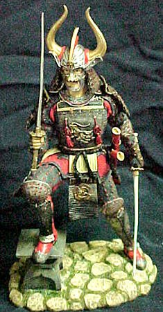 Japanese Samurai Nito Kenjutsu Warrior Figure