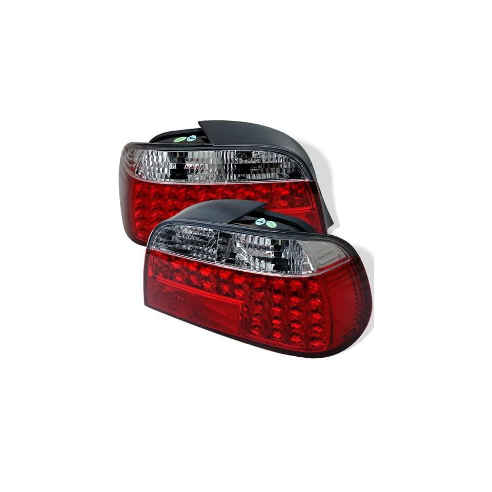 BMW E38 7 Series 1995 2001 LED Tail Lights   Red Clear