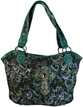 Montana West Concealed Carry Purse Western Handbag Paisley Hobo Turquoise