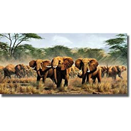 Protecting the Flanks by Simon Combes Stretched Canvas (Ready-to-Hang)