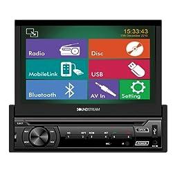 See Soundstream VR-722HB Bluetooth Mobile 8 Single DIN Motorized Flip Up 7