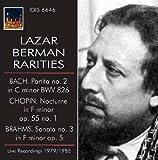 Lazar Berman Rarities Bach