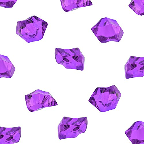 Acrylic Color Ice Rock Crystals Treasure Gems for Table Scatters, Vase Fillers, Event, Wedding, Birthday Decoration Favor, Arts & Crafts (385 Pieces) by Super Z Outlet® (Purple) (Ice Rock Gems compare prices)