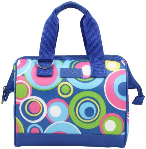 Sachi 34-174 Insulated Fun Prints Lunch Tote, Blue Circles