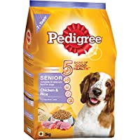 Pedigree Senior Dog Food Chicken & Rice, 3 Kg Pack