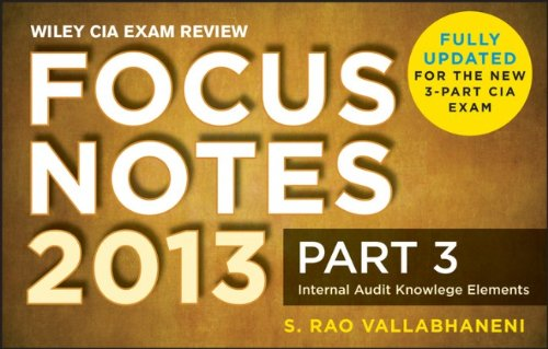 Wiley CIA Exam Review Focus Notes, Internal Audit Knowledge Elements (Part 3)