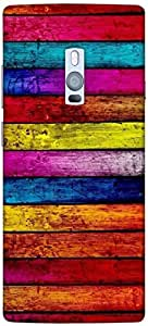 Timpax Protective Hard Back Case Cover Printed Design : Colourful Pattern.Specifically Design For : ONE PLUS Two ( 1+2 )
