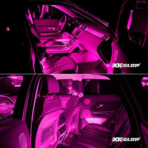 pink premium 18pcs underglow car interior three mode led neon accent light kit waterproof. Black Bedroom Furniture Sets. Home Design Ideas