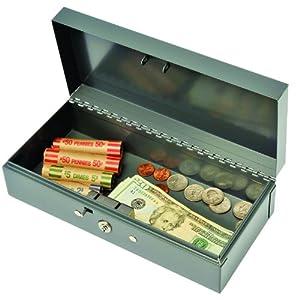 STEELMASTER Locking Steel Bond Box, Includes Keys, 10.25 x 2.88 x 4.75 Inches, Gray (2212CBGY)