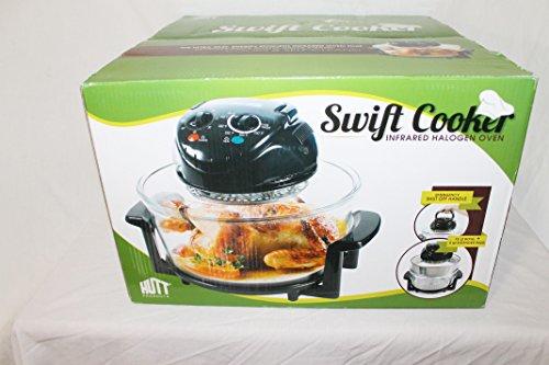 Swift Cooker Infrared Halogen Oven With Extender Ring 12 Quart Bowl & 5 Quart Extension