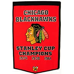 Buy Winning Streak Chicago Blackhawks Dynasty Banner by Winning Streak