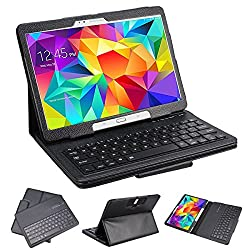 SUPERNIGHT Samsung Galaxy Tab 3 10.1 & Tab 4 10.1 Case with Keyboard - Ultra Slim Detachable Bluetooth Keyboard Portfolio Leather Case Cover for Samsung Tab 3 & Tab 4 10.1