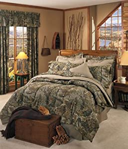 Realtree advantage classic camouflage 8 pc for Matching bedroom and bathroom sets