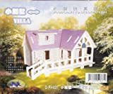 3D PUZZLE PH021 SMALL SIZE 3-D Wooden Puzzle - VILLA I Model Woodcraft Construction Kit Toy