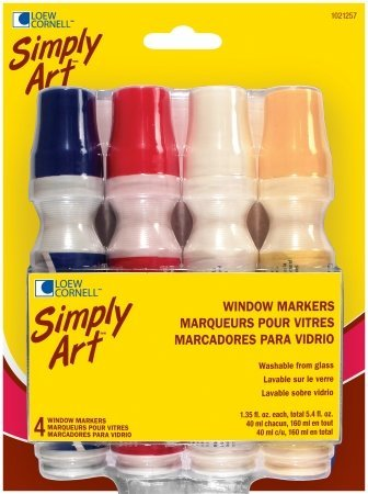 Loew-cornell Llc 1021257 Window Marker 4 Pack Assorted Colors