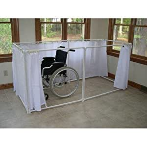 Wheelchair Accessible Portable Shower Stall Recliner Model Healt