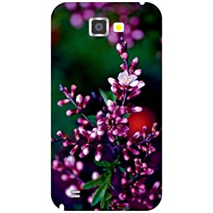 Via flowers Back Cover For Samsung Note 2 Purple Multi Color