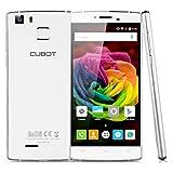 "Cubot S600 - Smartphone Libre 4G Android 5.1 (Quad Core, Pantalla 5.0"", IPS 1280*720 HD, 2GB RAM, 16GB ROM, Cámara 13.0MP, Dual SIM, Smart Gesto, Escaner Huellas Dactilares) Blanco"