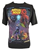 Mega Man 10 (Megaman Capcom Hit Game) Mens T-Shirt - Classic Box Art Style Image on Black (Extra Large)