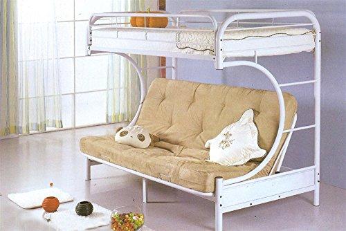 Milton Greens Stars 7565W Orlando Twin Over Full Bunk Bed, White