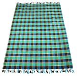 Nistha Products Cotton Floor Mat - 98.4'' x 70.8'' x 0.78'' , Green