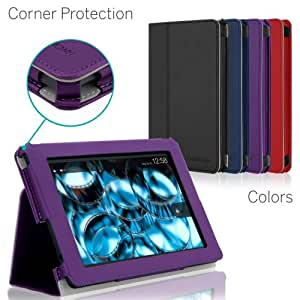 [CORNER PROTECTION] CaseCrown Bold Standby Pro Case (Purple) for 2013 All-New Amazon Kindle Fire HD 7 Inch Tablet (NOT for 2012 Kindle Fire HD 7) with Sleep / Wake, Hand Grip & Multi-Angle Viewing Stand