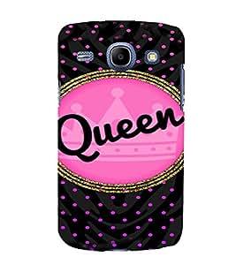 PrintVisa Queen Girl Design 3D Hard Polycarbonate Designer Back Case Cover for Samsung Galaxy Core i8262