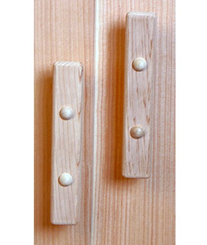 BALTIC LEISURE Set of Cedar Door Handles with Hardware