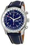 51ECRtO9VML. SL160  Breitling Mens A2432212/C651 102X Navitimer World Blue Dial Watch