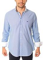 VICKERS Camisa Hombre Harvard (Azul / Blanco)