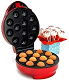 American Originals Cake Pop Maker EK1071 (Mk II) - Bakes 12 cakes at a time - UK Model - Vibrant Red