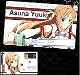 高品質お財布や名刺入れにすっきり収まるスマートなデザインのカード型8GBUSB  ソードアート・オンライン仕様 面白い小物