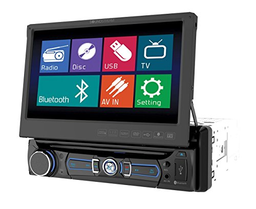 Soundstream VR-701 In-Dash Single-Din Car Stereo DVD Player with 7-Inch LCD Display