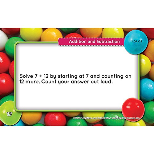 Edupress Addition and Subtraction Tasty Task Cards, Grades 1-2 (EP3654)